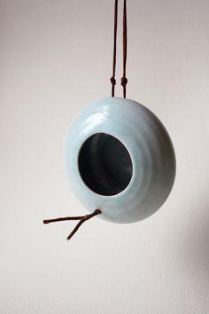 Handmade ceramic birdfeeder by OlisCupboard on Etsy