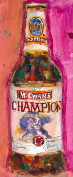 McEwan Champion Ale  Beer Art Print from Original by dfrdesign