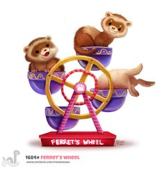 Daily+Painting+1684#+Ferret's+Wheel+by+Cryptid-Creations.deviantart.com+on+@DeviantArt