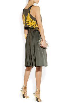Maiyet|Hand-embroidered linen-blend dress|NET-A-PORTER.COM