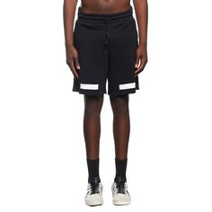 Brushed diagonals shorts from the F/W2016-17 Off-White c/o Virgil Abloh collection in black