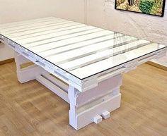 Mesa comedor palets blanca | Handspire