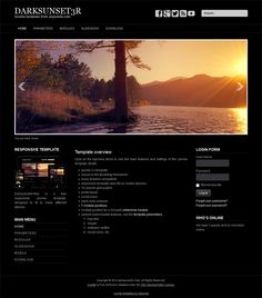 darksunset3r free dark joomla template