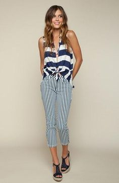 Splendid Tank & Skinny Pants available at Look Fashion, Fashion Models, Fashion Outfits, Womens Fashion, Street Chic, Street Style, Kind Und Kegel, Summer Outfits, Cute Outfits