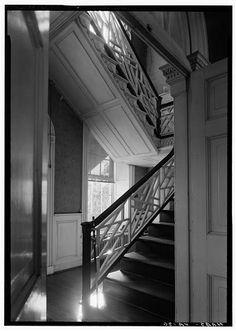 Chippendale Staircase - Battersea, 793 Appomattox Street, Petersburg, Petersburg, VA