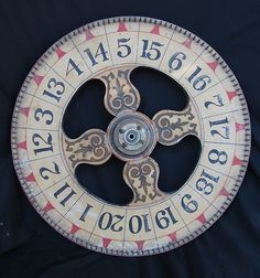 Vintage Painted Wooden Carnival Game Wheel of Chance | eBay