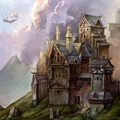 Fantasy Architecture Illustrations by Snow Skadi