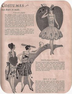 1920s costume ideas page from a magazine #halloween #costume #vintage