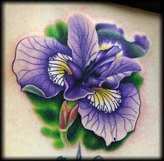 beautiful purple iris tattoo  Jeff Ensminger - purple iris