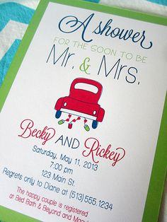 Items similar to Couples Wedding Shower Invitation on Etsy Couples Wedding Shower Invitations, Bridal Shower Games, Custom Invitations, Mexican Invitations, Couple Shower, Bridal Gifts, Here Comes The Bride, Love And Marriage, Wedding Cards