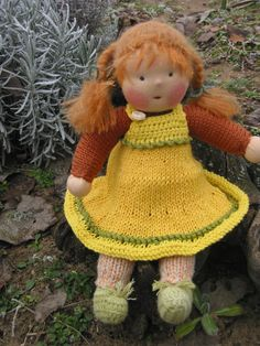 Waldorf type big haired girl by FeltingZsuska on Etsy