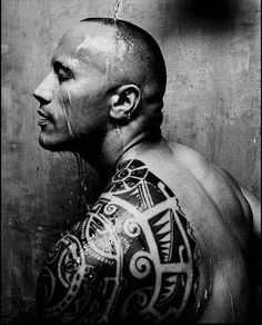 the one and only ROCK. love his tribal tattoo - it's the only kind of tribal tattoo i can stand.