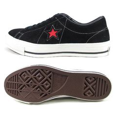c39210859508 FOOTMONKEY  ○○ Limited model men s sneaker made in Converse one star suede  CONVERSE ONE STER J SUEDE black   red sneakers men low-frequency cut suede  ...