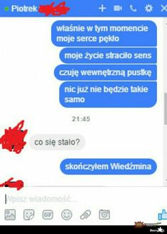 Wtf Funny, Funny Texts, Polish Memes, I Want To Cry, Funny Text Messages, The Witcher, Best Memes, Haha, I Am Awesome