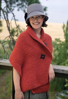 The shawl I'm wearing here uses a garter stitch—every row is knitted using two…
