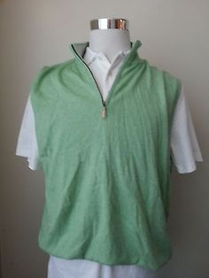 #sale fashion ebay Peter Millar LUXURY cashmere Blend Quater Zip Neick Light Green vest sweater XL PeterMillar withing our EBAY store at  http://stores.ebay.com/esquirestore