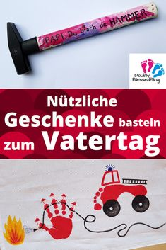 Nützliche Geschenke basteln zum Vatertag With small children, you can easily make useful gifts for Father's Day. Craft Gifts, Diy Gifts, Best Gifts, Diy Mothers Day Gifts, Gifts For Father, Saint Valentine, Valentine Day Gifts, Papa Tag, Valentine History