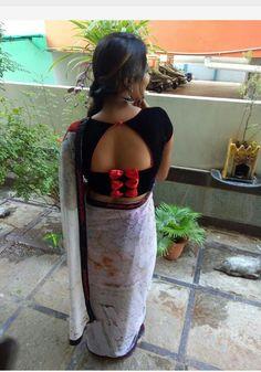 Blouse Back Neck Designs, Designer Blouse Patterns, Fancy Blouse Designs, Stylish Blouse Design, Blouse Models, Saree Blouse, Blouse Outfit, Sarees, Saree Wedding