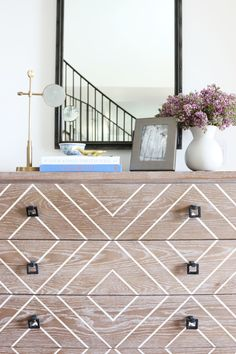 I have a 4-drawer dresser that we can paint any color or pattern for the entry...