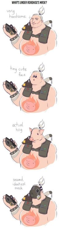 Whats under Roadhogs mask?