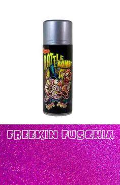 Lil Daddy Roth metal Flake Rattle Bomb Freekin Fuschia glitter hot rod kustom #lildaddyroth