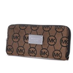 Michael Kors Jet Set Continental Logo Large Brown Wallet