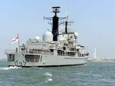 A Type 42 destroyer sailed into harbour for the last time under its own steam today as HMS Edinburgh entered Portsmouth for the final time. The veteran warship was treated to a 21-gun salute, fly past and cheering crowds as she completed her UK tour and came home ready for decommissioning next week.