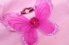 Little Girl Glitter Sequin Trim hot pink wings. on Etsy, $18.00