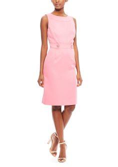 On ideel: TAHARI ARTHUR S. LEVINE Sleeveless Sheath Textured Dress