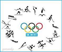 Výsledek obrázku pro zimní olympijské sporty - piktogramy Digital Stamps, Olympic Games, Posters, Logos, Sports, Winter, Digi Stamps, Logo, Poster