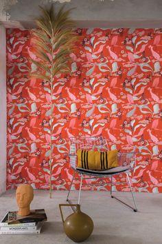 Wallpaper, Wallpaper Shop, wonderful Wallpaper Vinyl Wallpaper, Quirky Wallpaper, Fish Wallpaper, Home Design, Koi, Pattern Matching, Japanese, Wall Art, Studio