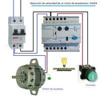 Esquemas eléctricos: Reducción de velocidad de un motor de lavadora con... Electrical Installation, Electrical Wiring, Electrical Circuit Diagram, Energy Projects, Work Tools, Arduino, Engineering, Led, Science