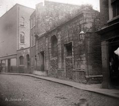 The remains of St. Nicholas Without, Dublin. Dublin Map, Dublin City, Dublin Ireland, Old Images, Old Pictures, Old Photos, Dublin Street, Ireland Pictures, Photo Engraving