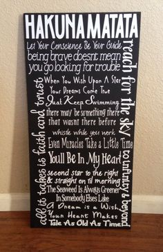 Disney Quote Sign by HandleWithLuv on Etsy, $30.00 amazing! I want this