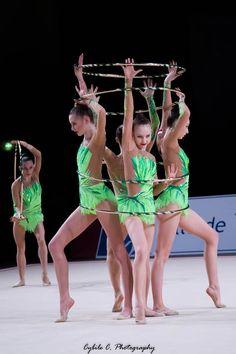 Group Poland, Grand Prix (Thiais) 2018 Rhythmic Gymnastics, Grand Prix, Leotards, Poland, Flexibility, Hoop, Dancing, Colorful, Sports