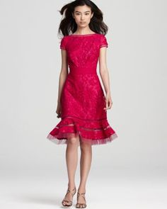 Tadashi Shoji lace dress | More here: http://mylusciouslife.com/pictures-of-lace/