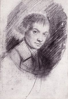George Romney R.A. (1734-1802) #selfportrait Pencil. 14x10cms. NPG