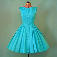 Genuine fifties dress from nest egg vintage,  want it soo bad... Shame its size extra small :((