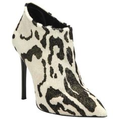 Preowned Giuseppe Zanotti New & Sold Out Animal Print Fur Ankle Boots... (€1.305) ❤ liked on Polyvore featuring shoes, boots, ankle booties, multiple, fur booties, bootie boots, animal print booties, giuseppe zanotti bootie and high heel fur boots