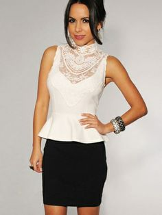Falbala Women's Sleeveless Lace Bodycon Dress