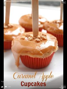Caramel Apple Cup Cakes! Yummy!