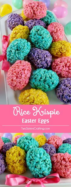Rice Krispie Easter Eggs - an Easter dessert that is fun, easy and delicious. Your family will love this unique Easter treat. Follow us for more great Easter Food Ideas.