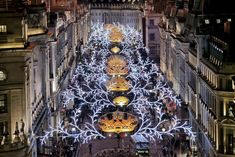 Regent Street gets its usual Christmas makeover with garlands of lights down the length of the road. The switch-on event promises celebrity appearances, family activities and a fireworks display.