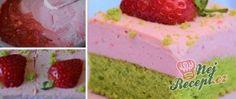Jahodovo špenátové kostky - fotopostup Pudding, Drinks, Cake, Desserts, Food, Pastries, Drinking, Tailgate Desserts, Pie