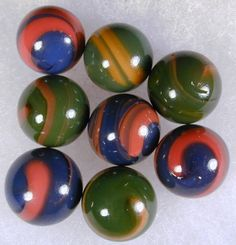 Transitional's - earliest hand gathered marbles | 1900