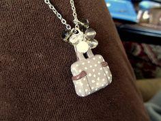 Lotsa Dots Tote Necklace. $20.00, via Etsy.