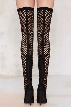 Nasty Gal In The Cage Thigh-High Boot - Shoes | Heels | Pumps