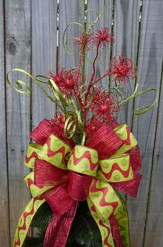 Christmas Tree Topper  Double Sided Tree Top Bow