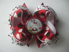 Ladybug Hello Kitty Boutique bow by AbraBOWdana on Etsy, $10.00