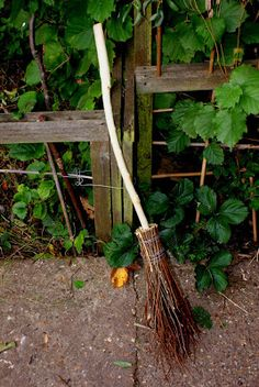 Make your own besom => Complete tutorial with pics. http://the-shed-and-beyond.blogspot.com/2012/10/how-to-make-besom-broom.html